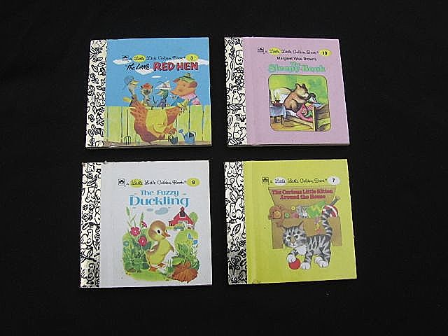 Four Miniature Little Little Golden Books Set