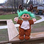 "SALE Large ""Rudy Rudolph"" the Reindeer plush Troll Doll Russ Berrie Kidz"