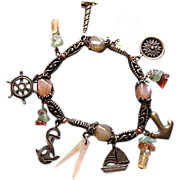 SALE Beautiful Nautical Charm Bracelet