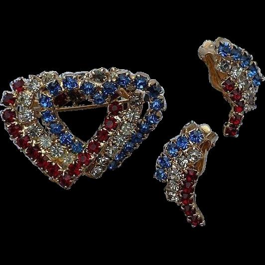 Patriotic Rhinestone Heart Pin - 262.6KB