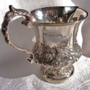 Antique English sterling silver creamer 1838