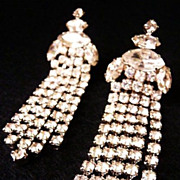 unsigned Vintage RS formal clip earrings