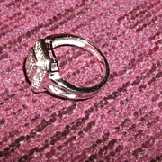 SALE Sterling Diamond Ring Outstanding Beauty at Outstanding Price