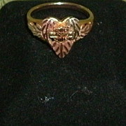 SALE Heart Ring Rose Gold Harley Davidson Black Hills Gold