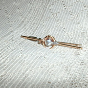14 Kt. Gold Diamond 1/2 half Carat Murat Shrine Pin Shriner Tie Bar