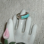 Turquoise Sterling Silver Ring Large Size Man or Lady