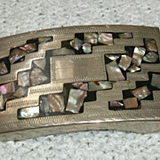 Belt Buckle Man Abalone Circa 1970