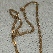 Sterling Silver Necklace with Gold Overlay Man Lady