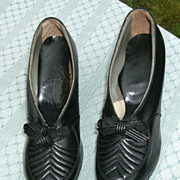 Vintage Black Shoes circa 1920 - 40 Flapper Dance Hall