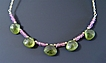 Ver Aeternum - Vesuvianite and Pink Tourmaline Necklace
