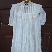 Victorian Lace and Lawn Christening Gown and Slip Set