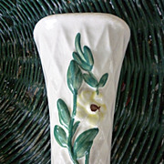 Morton Ceramic Yellow Flower Pottery Wall Pocket Vase