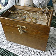 SALE Anton Pieck Dutch Flower Market 3 D Decoupage Wooden Purse