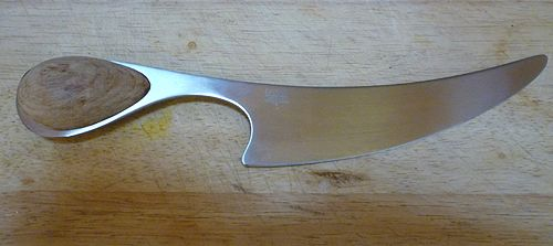Dansk Torun Stainless and Teak Cheese Knife Slicer