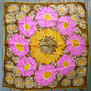 Vintage Vera Pop Art Big Flowers Print Scarf
