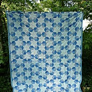 Columbia Star Baby�s Blocks Quilt Blue and White