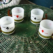 Siesta Ware Playing Card Mugs Set of 4