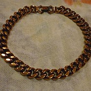 SALE Signed Renoir Copper Heavy Links Choker Necklace 50�s Modern