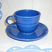 SALE New Fiesta Sapphire Cup and Saucer Retired Color