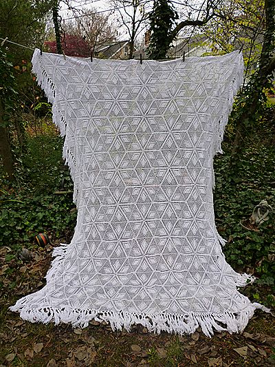 Crochet Bedspread : ... Pattern Hand Crochet Bedspread from chezmarianne on Ruby Lane