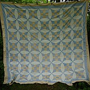 SALE Glorified Nine Patch Pattern 1930�s Quilt Top With Provenance