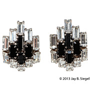 B.E. Cook London Black & Clear Rhinestone Earrings