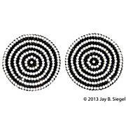 Barbara Groeger Black & White LARGE Disk Earrings