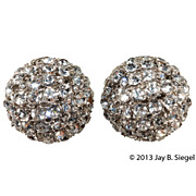 Marvella Clear Rhinestone Ball Dome Earrings
