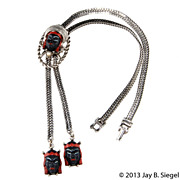 Selro Asian Princess Face Black & Red Necklace