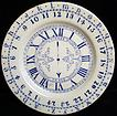 Staffordshire ABC Plate ~ Clock + Numbers 1880
