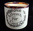 Creamware Child's Mug ~ A Present for George 1820