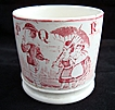 19th Century ABC Mug ~ P - Q - R  1850