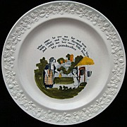 SALE Pearlware Child's Plate ~ My Grandmother 1820