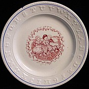 SALE Rare Double ABC Plate ~ Dutch Girls
