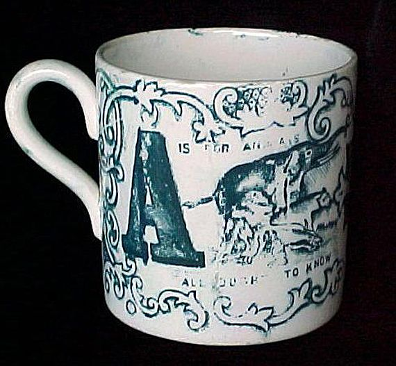 Childs ABC MUG ~ A Animal B Bear 1840
