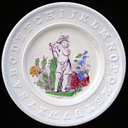 SALE Antique ABC Pearlware Plate ~ JULY 1840