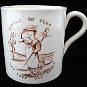 SALE RARE Nursery Mug ~ Nursery Rhymes 1850