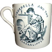 SALE Cinderella Mother Hubbard Dog Childs Mug 1880 ABC Nursery Tales Staffordshire