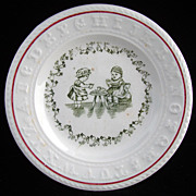 SALE Rare Sign Language Alphabet ABC Plate ~  1890