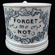 SALE 1830 Pearlware Child's Mug ~ Forget Me Not