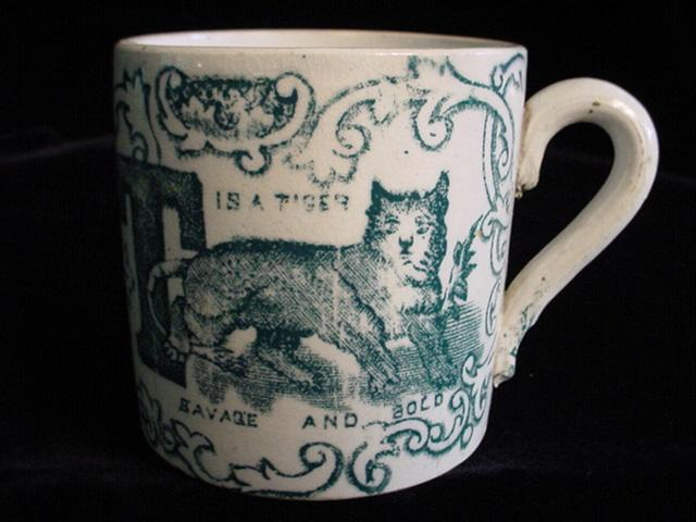 Rare 1830 Childs ABC Mug ~ S + T