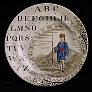 SALE ABC Plate ~ Nations ~ Wallachian ~ 1880