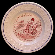 SALE Rare Sign Language ABC Plate ~ Upset Goose