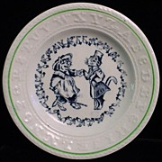 SALE EXC Double ABC Plate ~ CATS ~ Sign Language