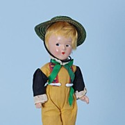 "9"" Alexander 1930s compo 1930s Little Betty Swedish boy International Doll"