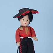 "9"" Alexander compo 1930s Little Betty Spanish Boy International Doll"