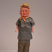 "13"" German paper mache ""Foxy Grandpa"" doll with original costume and spectacles"