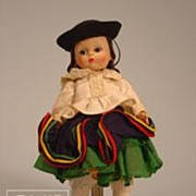 "8"" Madame Alexander Bolivia International Doll"