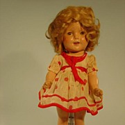 "13"" composition Ideal Shirley Temple doll 1930s"