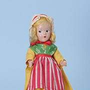 "9"" Alexander compo 1930s Little Betty Swedish girl International Doll"
